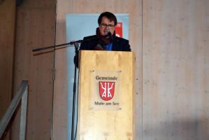 SPD-Unterbezirksvorsitzender Norbert Ringler begrüßt die Delegierten (Foto: Klaus Heger)