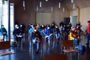 Ungewöhnlicher Blick in die Versammlung (Foto: Klaus Heger)