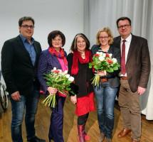 Harald Dösel, Christa Naaß, Petra Hinkl, SPD-Landesvorsitzende Natascha Kohnen, Norbert Ringler